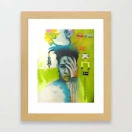 Happiness is just an illusion Framed Art Print
