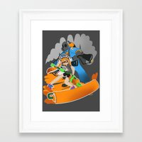 team fortress Framed Art Prints featuring Ink Fortress 2 by Hexabeast