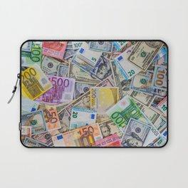 money texture. Euro and Dollars Laptop Sleeve