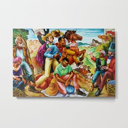 """African American Classical Masterpiece """"The Underground Railroad"""" by Hale Woodruff Metal Print"""