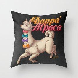Dappa' Alpaca Throw Pillow
