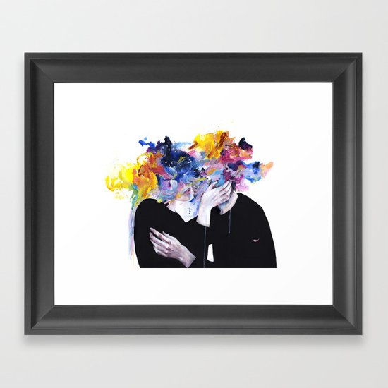 intimacy on display Framed Art Print by Agnes-cecile ...