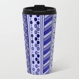 Yzor pattern 002 blue Travel Mug