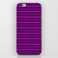 Dividers 02 in Purple over Black iPhone & iPod Skin