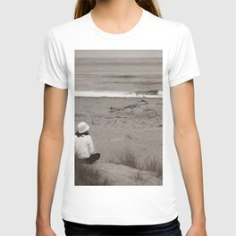 Watching The Ocean (bw) T-shirt