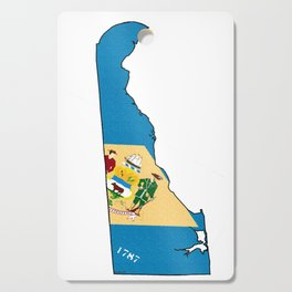 Delaware Map With Delaware Flag Cutting Board