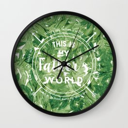 This is My Father's World Wall Clock