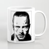 jesse pinkman Mugs featuring Breaking Bad - Jesse Pinkman by Aaron Campbell