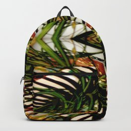 Spider Plant Genie on Green,White,Red,Black,Gold Backpack