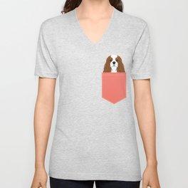 Bode - King Charles Spaniel customizable pet art for dog lovers  Unisex V-Neck