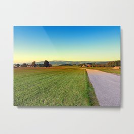 Autumn afternoon in the countryside | landscape photography Metal Print