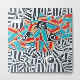 One, Two, Many Stripes Metal Print