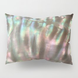 Shimmery Greenish Pink Abalone Mother of Pearl Pillow Sham