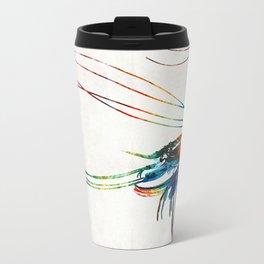 Colorful Shrimp Art by Sharon Cummings Travel Mug
