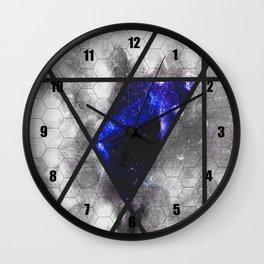 blue trapezoid Wall Clock