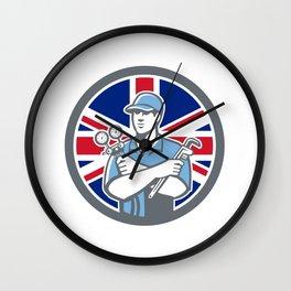 British Refrigeration Mechanic Icon Wall Clock