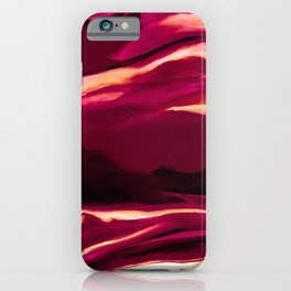 Dark Red Abstract Painting iPhone Case