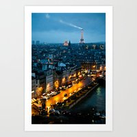 paris Art Prints featuring Paris by Luca Spanu