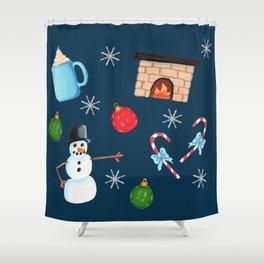 Winter Decoration Shower Curtain