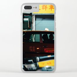Taxicab Driver (Color) Clear iPhone Case