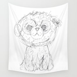 Puppy dog Wall Tapestry