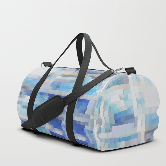 Abstract blue pattern 2 Duffle Bag