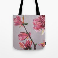 magnolia Tote Bags featuring Magnolia by Marjolein