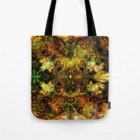 fibonacci Tote Bags featuring Fibonacci 1 by Aleks7