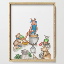 Too Many Cooks Make a Powerful Broth Serving Tray