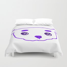 purple puppy Duvet Cover