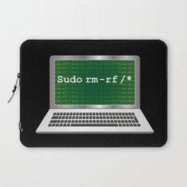 Sudo rm   Linux Coding Terminal Laptop Sleeve