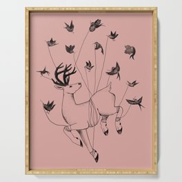 A Deer Uplifted Serving Tray