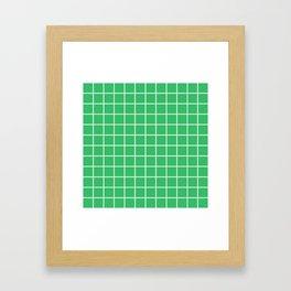 Grid Pattern Green 2 Framed Art Print