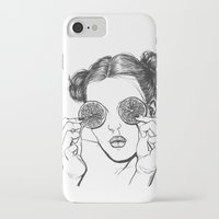 lemon iPhone & iPod Cases featuring Lemon by Cannibal Malabar