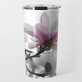 Springtime magnolia painting in nature Travel Mug