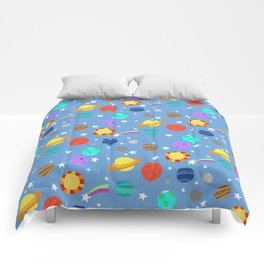planets and stars Comforters