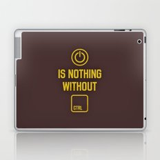 Power is nothing without Control Laptop & iPad Skin