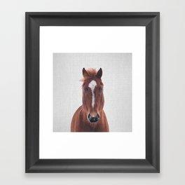 Horse II - Colorful Framed Art Print
