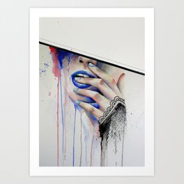 Jay Freestyle - Girl painting Art Print