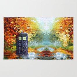 starry Autumn blue phone box Digital Art iPhone 4 4s 5 5c 6, pillow case, mugs and tshirt Rug