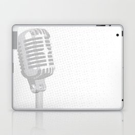 Grey Microphone Background Laptop & iPad Skin
