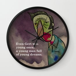 Even Gert was young once. Wall Clock