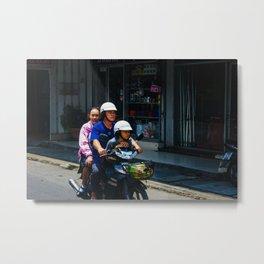 Family in Chiang Mai Metal Print