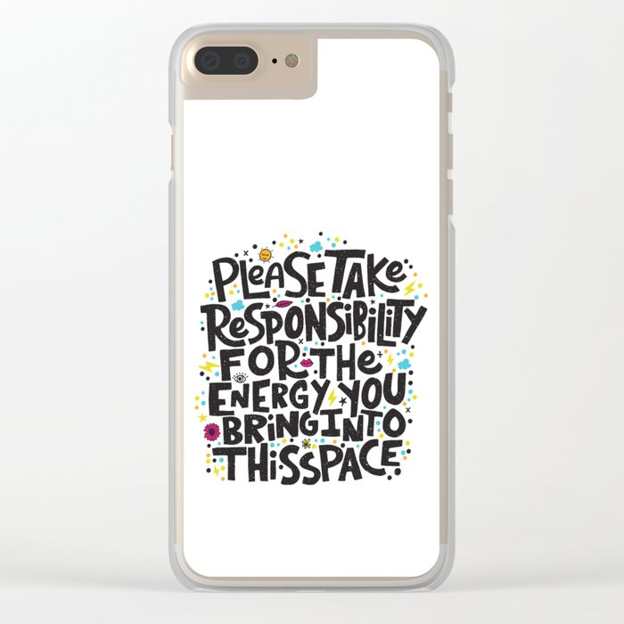 TAKE RESPONSIBILITY Clear iPhone Case