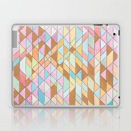 Triangle Pattern No. 25 Gold Pink Turqouise Laptop & iPad Skin