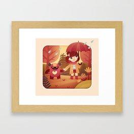 Imaginary friend Framed Art Print
