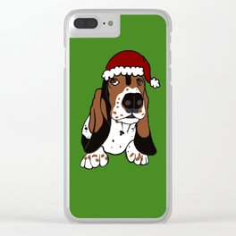 A Basset Full of Christmas Clear iPhone Case