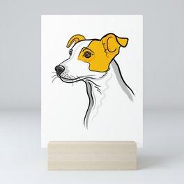 Tan & White Jack Russell Dog Portrait Mini Art Print