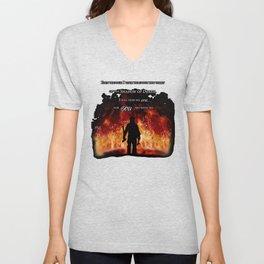 Firefighter Tribute Unisex V-Neck