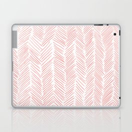 Living Coral Herringbone Laptop & iPad Skin